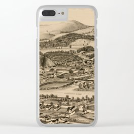 Old Lebanon NH & White River Junction VT Map (1889) Clear iPhone Case
