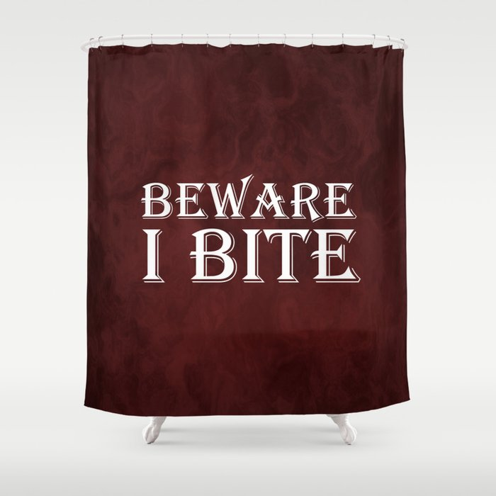 Beware I Bite | Vampire Art | Vampire Lover Shower Curtain