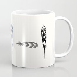 Minimal Feathers Coffee Mug
