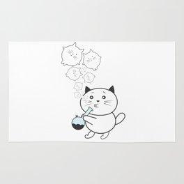 Smoke Cat not War Rug