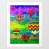 hot air balloons Art Prints featuring Hot Air Balloons #6 by Music of the Heart