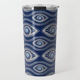 Greek Mati Mataki - Matiasma Evil Eye Pattern #5 Travel Mug