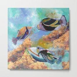 Humuhumu Tropical Fish 3 Metal Print