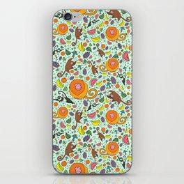 Cute Monkeys and Fruit iPhone Skin