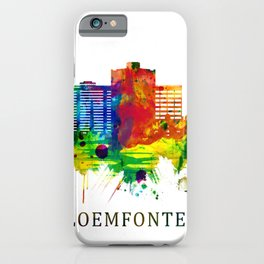 Bloemfontein South Africa Skyline iPhone Case