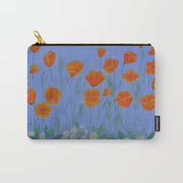 Poppies And Primroses Carry-All Pouch