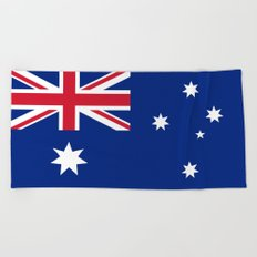 Flag of Australia - Authentic High Quality image Beach Towel