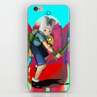 finn and jake iPhone & iPod Skins featuring Finn & Jake by Joshua M. Rhodes III