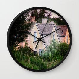 The Village of Lower Slaughter in the Cotswolds, UK Wall Clock