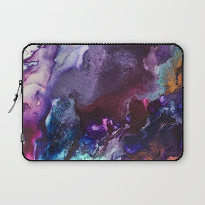 Expressive Flow 1 - Mixed Media Pain Laptop Sleeve
