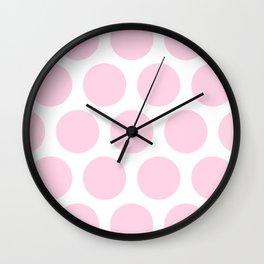 Large Polka Dots: Pink Wall Clock