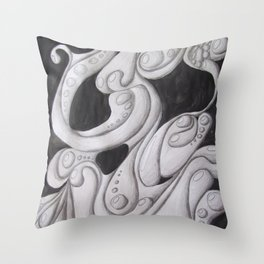Fluidity of Motion Throw Pillow