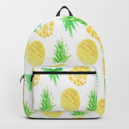 Watercolor Pineapple Pattern Backpack