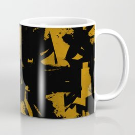 Looking For Gold - Abstract gold and black painting Coffee Mug
