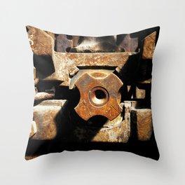 Shaft clutch metal engine Throw Pillow