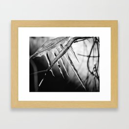 his biting touch Framed Art Print