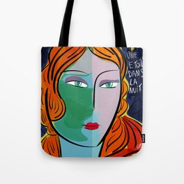 Une étoile dans la nuit French Pop Girl Art Decoration Tote Bag