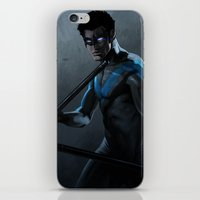 nightwing iPhone & iPod Skins featuring Nightwing by Yvan Quinet
