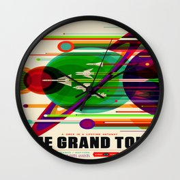 Vintage poster - The Grand Tour Wall Clock