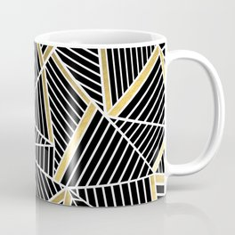 Ab Lines 2 Gold Coffee Mug