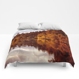 RADIANT AUTUMNAL REFLECTION Comforters