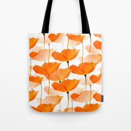 Orange Poppies On A White Background #decor #society6 #buyart Tote Bag