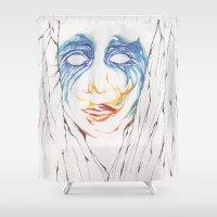 artpop Shower Curtains featuring ARTPOP by Alex Rocha