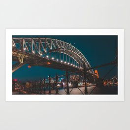 Blue Hour Harbour Bridge - Sydney Art Print