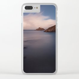 Mumbles lighthouse Swansea Clear iPhone Case
