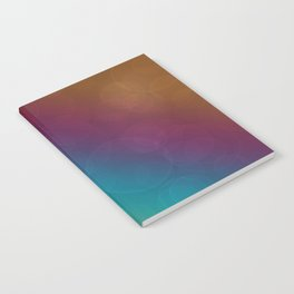 Bohek Bubbles on Rainbow of Color - Ombre multi Colored Spheres Notebook