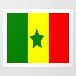Flag of Senegal Art Print