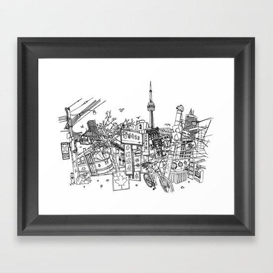Toronto! (Dark T-shirt Version) Framed Art Print