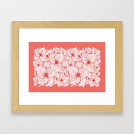 coral flower Framed Art Print