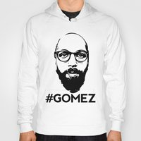 selena gomez Hoodies featuring Gomez - Black by Dominic DiMaria