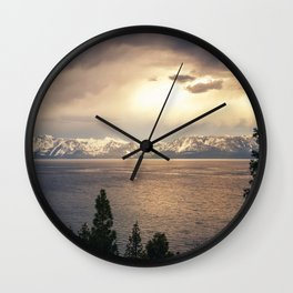 Changing Seasons at Lake Tahoe Wall Clock