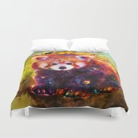 red panda Duvet Covers featuring red panda by ururuty