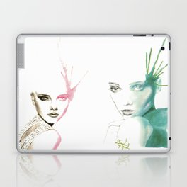 Two-Faced Faces Laptop & iPad Skin