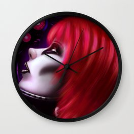 Red Girl Wall Clock