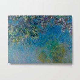 Claude Monet Wisteria Metal Print