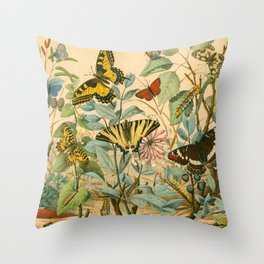 Garden Insects Throw Pillow