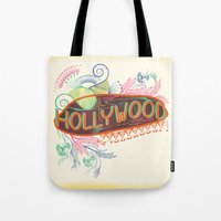 decorative Tote Bags featuring Decorative Typographic by famenxt