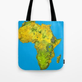 African Continent Topographical Relief Map Tote Bag