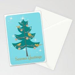 Mid Century Christmas Tree Stationery Cards
