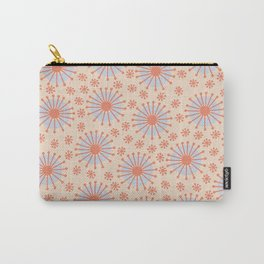 Carousel Retro Blue Carry-All Pouch