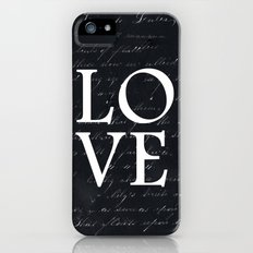 love - black edition Slim Case iPhone (5, 5s)