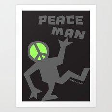 PEACEMAN Art Print