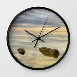 Sea sunset during calm weather Wall Clock