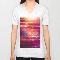 halo V-neck T-shirts featuring Sun Halo by Tom Lee