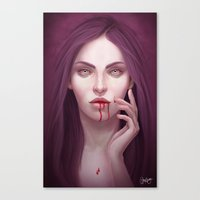 blood Canvas Prints featuring blood by melazerg
