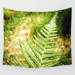 Green Fern Wall Tapestry